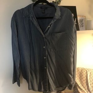 F21 Striped Button Up